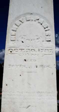 PARISH, HENRY - Montgomery County, Ohio | HENRY PARISH - Ohio Gravestone Photos