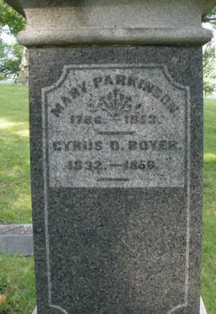 BOYER, CYRUS D. - Montgomery County, Ohio | CYRUS D. BOYER - Ohio Gravestone Photos