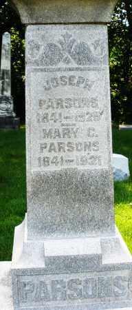 PARSONS, JOSEPH - Montgomery County, Ohio   JOSEPH PARSONS - Ohio Gravestone Photos