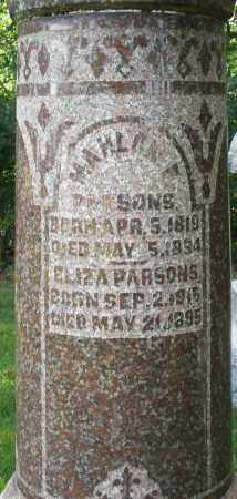 PARSONS, MAHLONE - Montgomery County, Ohio | MAHLONE PARSONS - Ohio Gravestone Photos