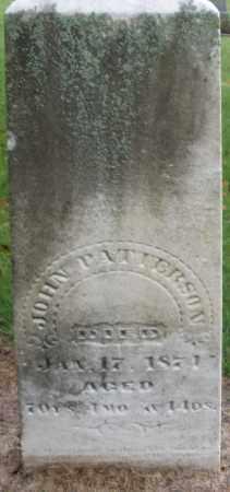 PATTERSON, JOHN - Montgomery County, Ohio | JOHN PATTERSON - Ohio Gravestone Photos