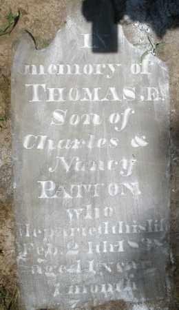 PATTON, THOMAS E. - Montgomery County, Ohio   THOMAS E. PATTON - Ohio Gravestone Photos