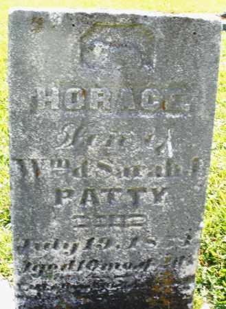 PATTY, HORACE - Montgomery County, Ohio   HORACE PATTY - Ohio Gravestone Photos