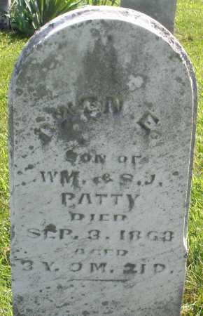 PATTY, OWEN E. - Montgomery County, Ohio   OWEN E. PATTY - Ohio Gravestone Photos