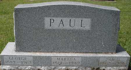 PAUL, MARTHA - Montgomery County, Ohio | MARTHA PAUL - Ohio Gravestone Photos