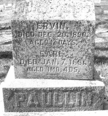 PAULLIN, EARL - Montgomery County, Ohio | EARL PAULLIN - Ohio Gravestone Photos