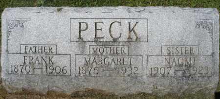PECK, MARGARET - Montgomery County, Ohio   MARGARET PECK - Ohio Gravestone Photos