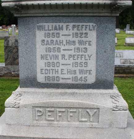 PEFFLY, NEVIN R. - Montgomery County, Ohio | NEVIN R. PEFFLY - Ohio Gravestone Photos