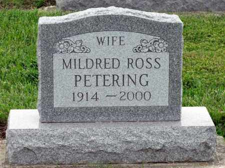 ROSS PETERING, MILDRED - Montgomery County, Ohio | MILDRED ROSS PETERING - Ohio Gravestone Photos