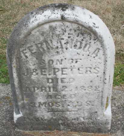 PETERS, FERNANDO A. - Montgomery County, Ohio | FERNANDO A. PETERS - Ohio Gravestone Photos