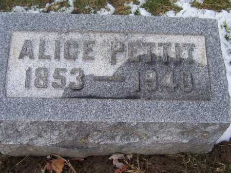 PETTIT, ALICE - Montgomery County, Ohio | ALICE PETTIT - Ohio Gravestone Photos