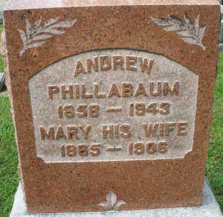 PHILLABAUM, ANDREW - Montgomery County, Ohio | ANDREW PHILLABAUM - Ohio Gravestone Photos