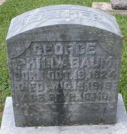PHILLABAUM, GEORGE - Montgomery County, Ohio | GEORGE PHILLABAUM - Ohio Gravestone Photos