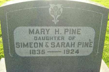 PINE, MARY H - Montgomery County, Ohio   MARY H PINE - Ohio Gravestone Photos