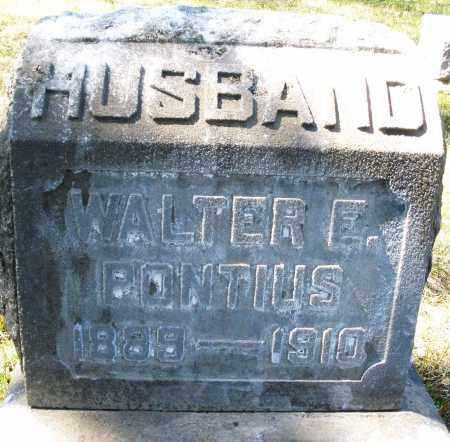 PONTIUS, WALTER E. - Montgomery County, Ohio   WALTER E. PONTIUS - Ohio Gravestone Photos