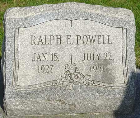 POWELL, RALPH E - Montgomery County, Ohio | RALPH E POWELL - Ohio Gravestone Photos