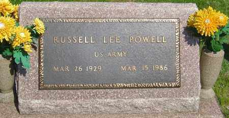 POWELL, RUSSELL LEE - Montgomery County, Ohio | RUSSELL LEE POWELL - Ohio Gravestone Photos