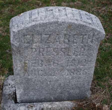 PRESSLER, ELIZABETH - Montgomery County, Ohio   ELIZABETH PRESSLER - Ohio Gravestone Photos