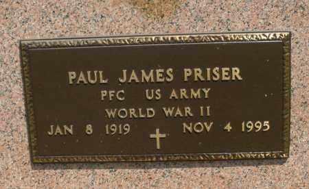 PRISER, PAUL JAMES - Montgomery County, Ohio | PAUL JAMES PRISER - Ohio Gravestone Photos