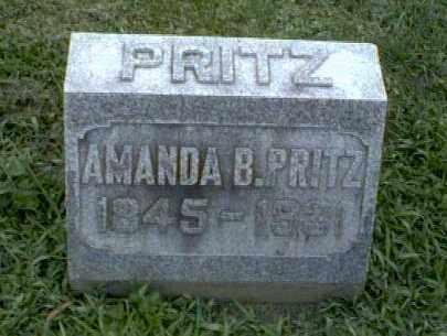 PRITZ, AMANDA - Montgomery County, Ohio | AMANDA PRITZ - Ohio Gravestone Photos