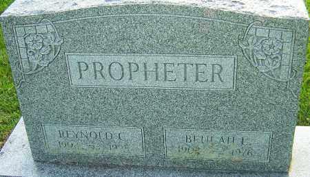 PROPHETER, BEULAH L - Montgomery County, Ohio | BEULAH L PROPHETER - Ohio Gravestone Photos