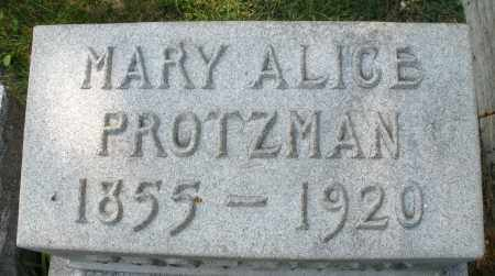 PROTZMAN, MARY ALICE - Montgomery County, Ohio | MARY ALICE PROTZMAN - Ohio Gravestone Photos