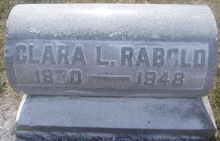 RABOLD, CLARA LAVINA - Montgomery County, Ohio   CLARA LAVINA RABOLD - Ohio Gravestone Photos