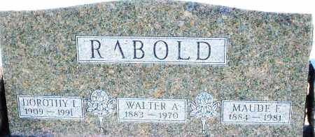 RABOLD, MAUDE F. - Montgomery County, Ohio   MAUDE F. RABOLD - Ohio Gravestone Photos