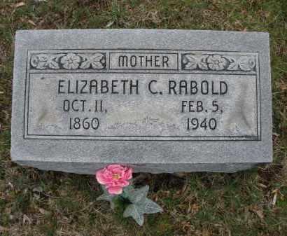 RABOLD, ELIZABETH C. - Montgomery County, Ohio   ELIZABETH C. RABOLD - Ohio Gravestone Photos