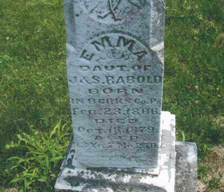 RABOLD, EMMA - Montgomery County, Ohio | EMMA RABOLD - Ohio Gravestone Photos
