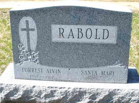 RABOLD, FORREST ALVIN - Montgomery County, Ohio   FORREST ALVIN RABOLD - Ohio Gravestone Photos