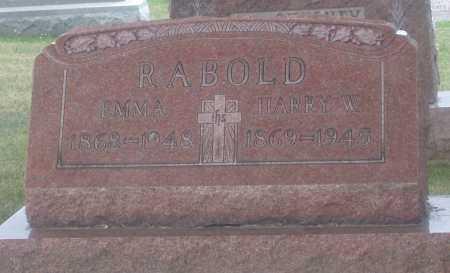RABOLD, HARRY W. - Montgomery County, Ohio | HARRY W. RABOLD - Ohio Gravestone Photos