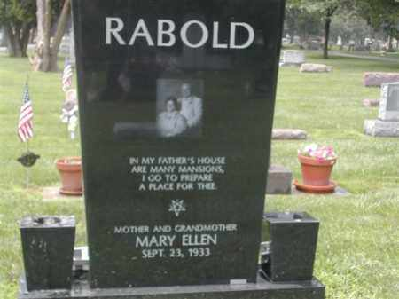 RABOLD, MARY ELLEN - Montgomery County, Ohio | MARY ELLEN RABOLD - Ohio Gravestone Photos