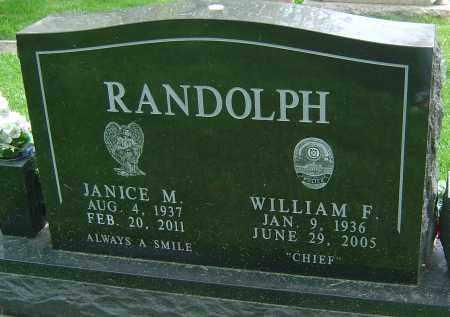 RANDOLPH, JANICE M - Montgomery County, Ohio | JANICE M RANDOLPH - Ohio Gravestone Photos