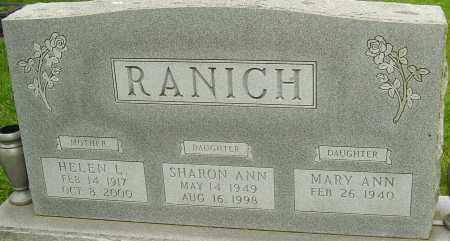 RANICH, HELEN L - Montgomery County, Ohio | HELEN L RANICH - Ohio Gravestone Photos