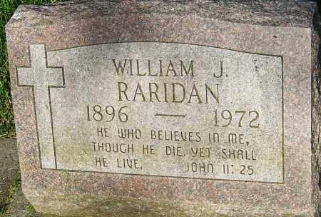RARIDAN, WILLIAM J - Montgomery County, Ohio | WILLIAM J RARIDAN - Ohio Gravestone Photos