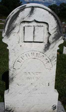 RASER, EPHREAM - Montgomery County, Ohio | EPHREAM RASER - Ohio Gravestone Photos