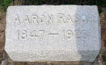 RASOR, AARON - Montgomery County, Ohio   AARON RASOR - Ohio Gravestone Photos