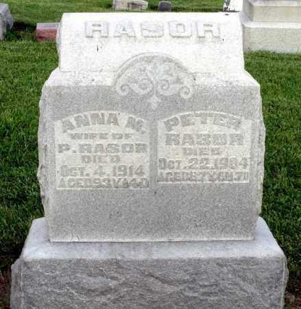 RASOR, ANNA M. - Montgomery County, Ohio   ANNA M. RASOR - Ohio Gravestone Photos