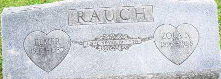 RAUCH, ZOLA N. - Montgomery County, Ohio | ZOLA N. RAUCH - Ohio Gravestone Photos