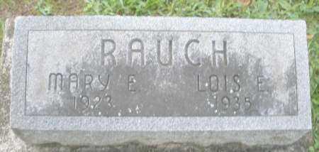 RAUCH, MARY E. - Montgomery County, Ohio   MARY E. RAUCH - Ohio Gravestone Photos