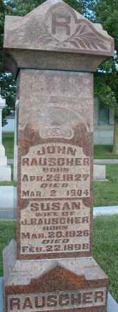RAUSCHER, JOHN - Montgomery County, Ohio | JOHN RAUSCHER - Ohio Gravestone Photos