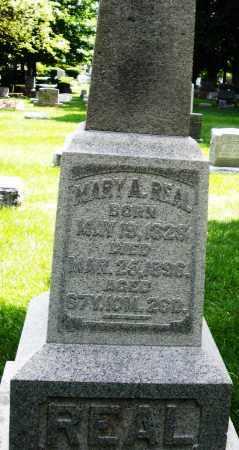 REAL, MARY A. - Montgomery County, Ohio   MARY A. REAL - Ohio Gravestone Photos