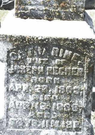RECHER, CATHARINE - Montgomery County, Ohio | CATHARINE RECHER - Ohio Gravestone Photos