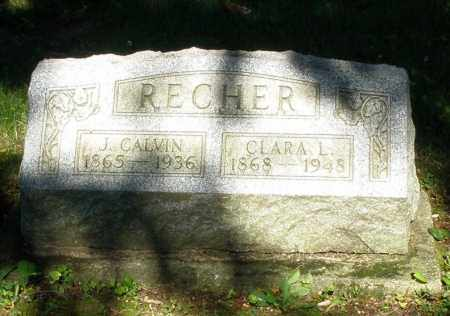 RECHER, J. CALVIN - Montgomery County, Ohio | J. CALVIN RECHER - Ohio Gravestone Photos