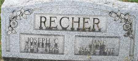 RECHER, JOSEPH C. - Montgomery County, Ohio | JOSEPH C. RECHER - Ohio Gravestone Photos