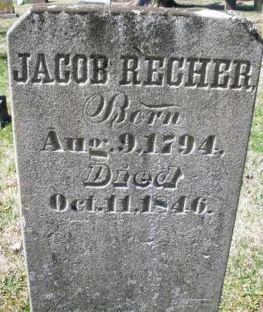 RECHER, JACOB - Montgomery County, Ohio | JACOB RECHER - Ohio Gravestone Photos
