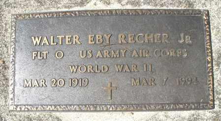 RECHER, WALTER EBY - Montgomery County, Ohio | WALTER EBY RECHER - Ohio Gravestone Photos