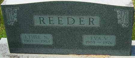 REEDER, EVA V - Montgomery County, Ohio | EVA V REEDER - Ohio Gravestone Photos