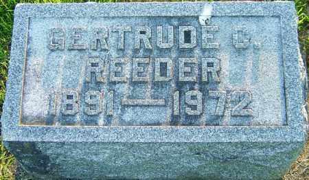 REEDER, GERTRUDE C - Montgomery County, Ohio | GERTRUDE C REEDER - Ohio Gravestone Photos
